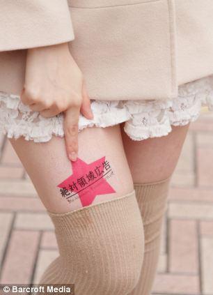 publicidade nas pernas