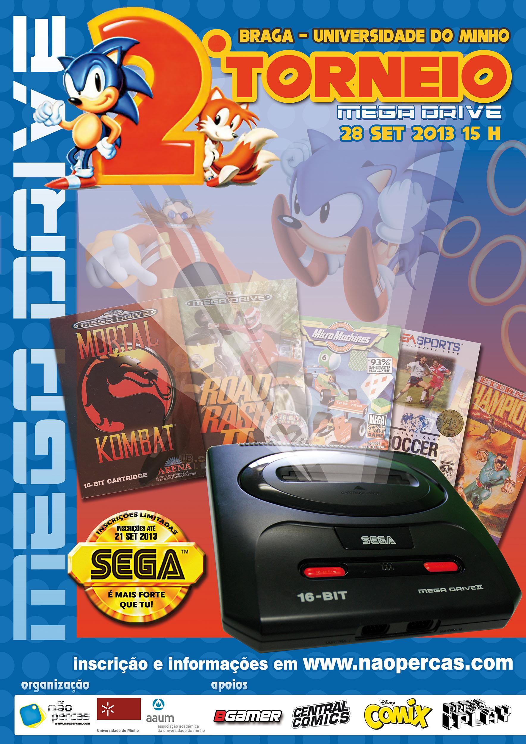 II Torneio Sega Mega Drive em Braga