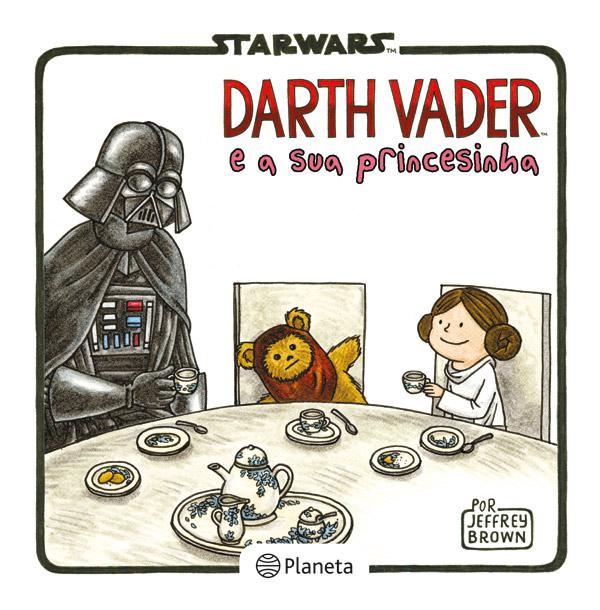 Star War Darth Vader e a sua-princesinha