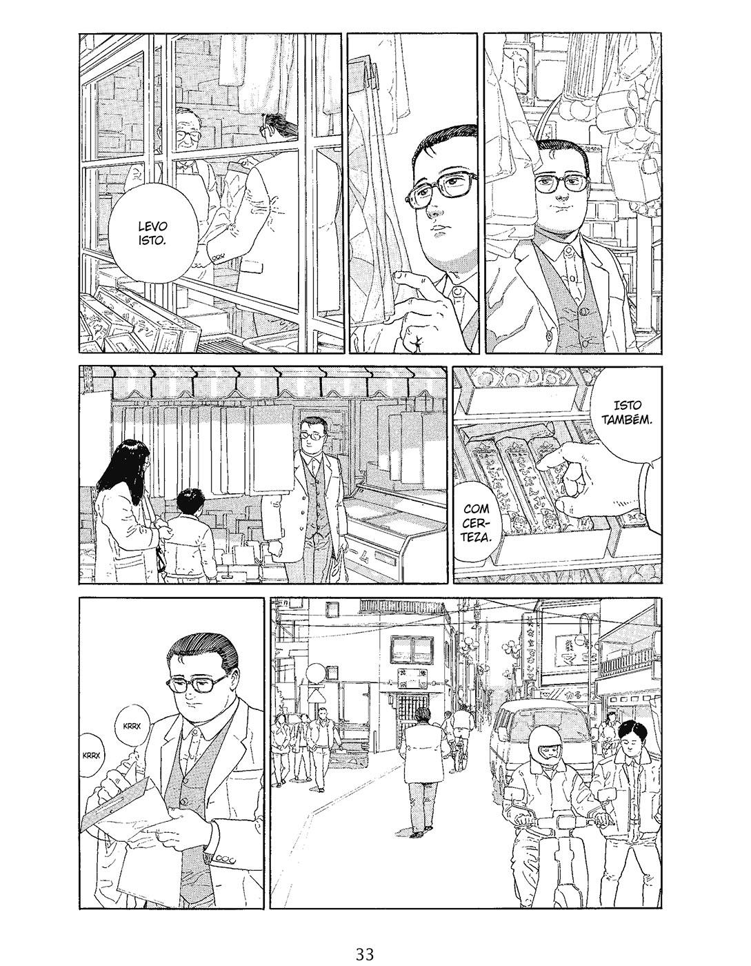"""""""O homem que passeia"""" de Jiro Taniguchi"""