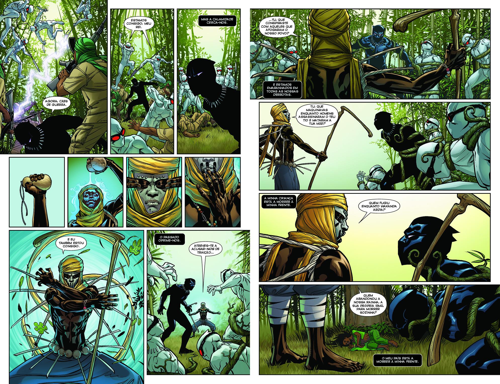 Pantera Negra #1 páginas 64-65
