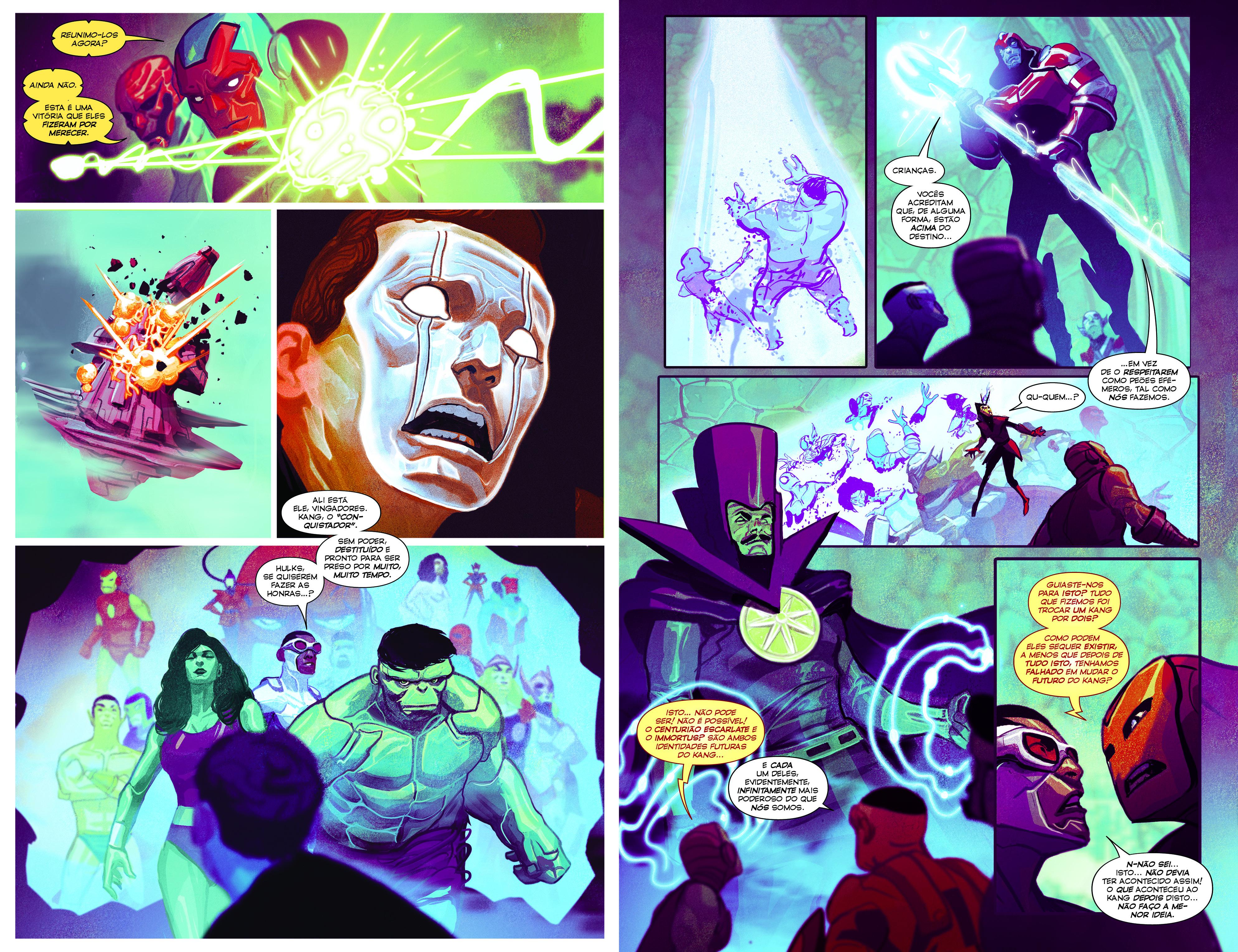 Os Vingadores Série II Vol.4 páginas 16-17