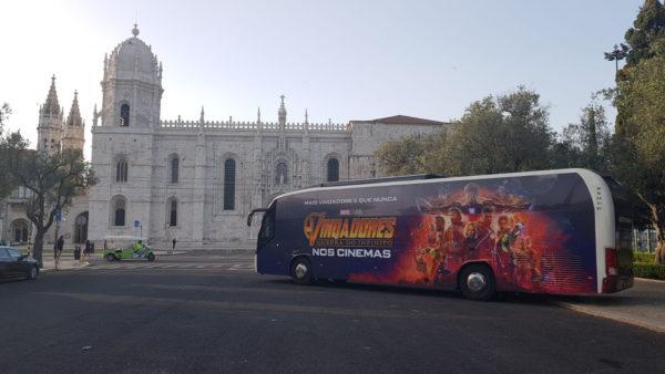 autocarro Vingadores: Guerra do Infinito