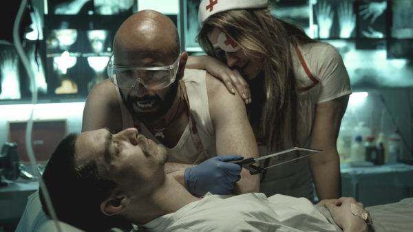 José Mata, Joaquim Horta e Isabel Figueira em 'Linhas de Sangue'.