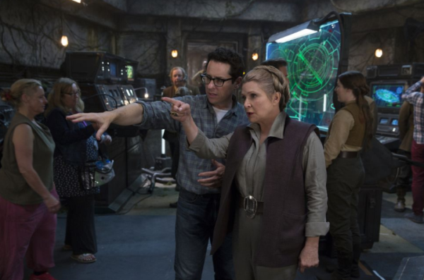 Carrie Fisher and J.J. Abrams