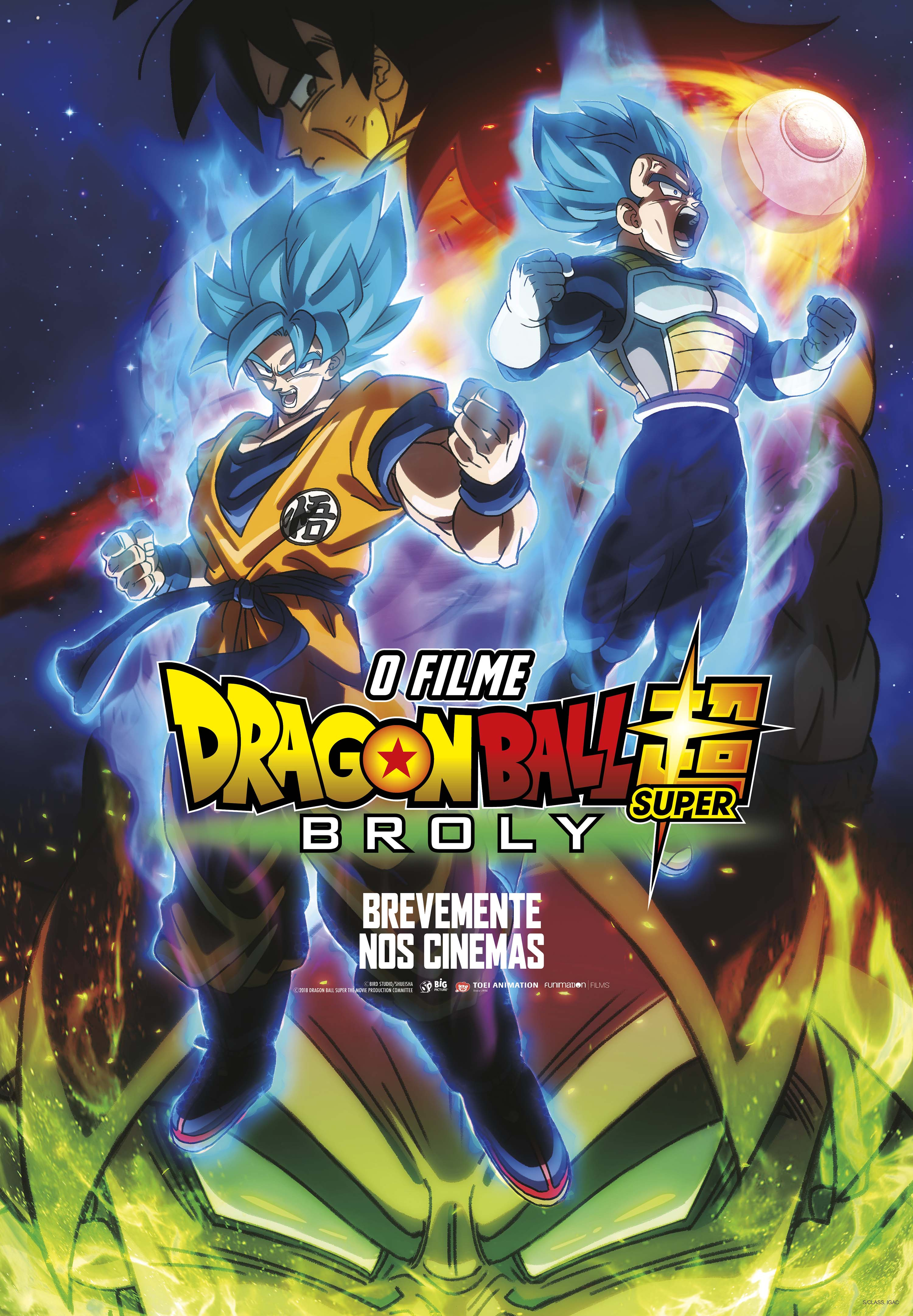 Dragon Ball Super Broly poster portugal