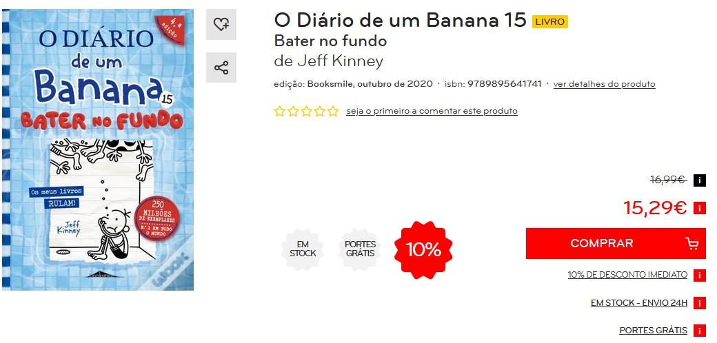 O Diário de um Banana Vol 15 - Bater no Fundo