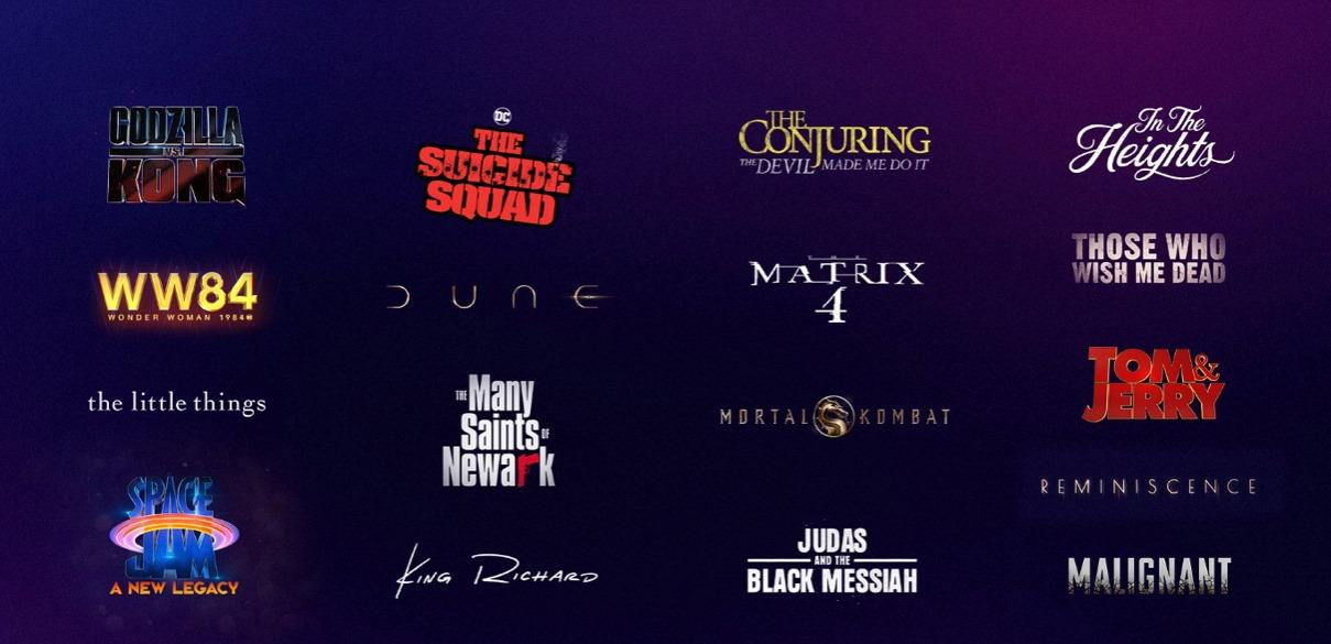 Filmes em simultaneo cinema e HBO MAX